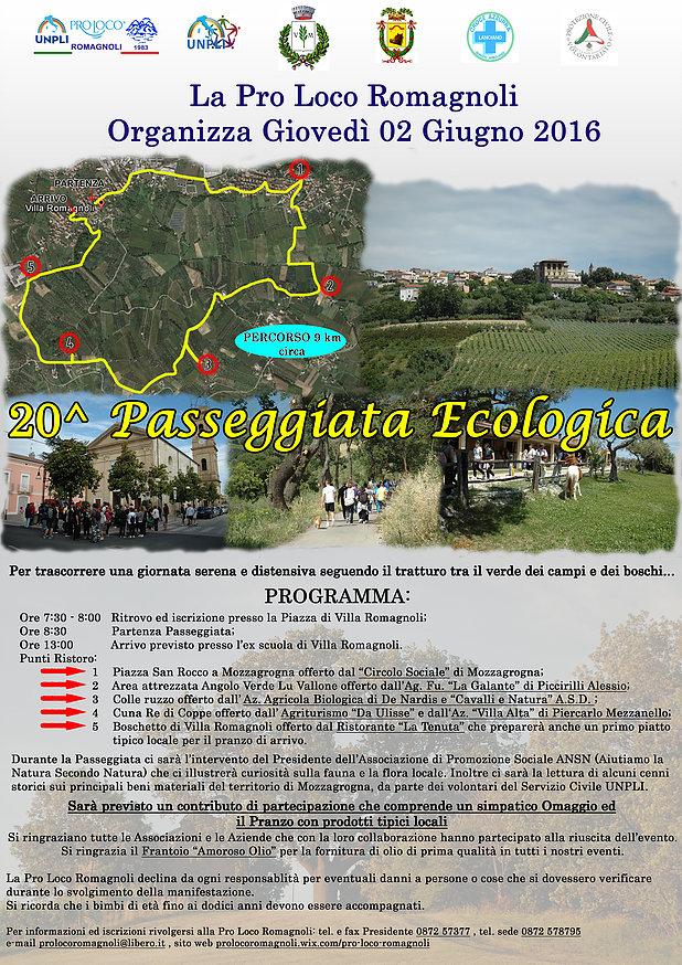 LOCANDINA 20a Passeggiata Ecologica Pro Loco Romagnoli